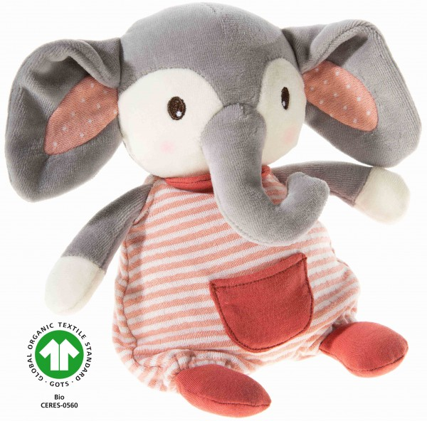 Heunec Frohnaturen Elefant cranberry in 22cm